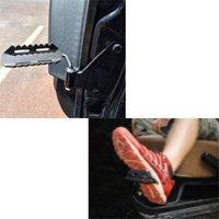 A Pair Of Exterior Black Metal Foot Pegs For Jeep Wrangler JK JKU Unlimited Rubicon Sahara