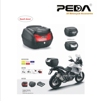 PEDA 2019 40L Motorcycle Topcase Non Broken PP Tail Box 48x42.5x30.5cm Scooter Cargo Case Carrier Box Topcases Carrier Box