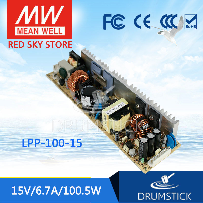 best-selling MEAN WELL LPP-100-15 15V 6.7A meanwell LPP-100 15V 100.5W Single Output with PFC Function