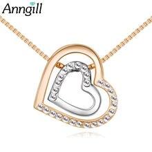 Ожерелье с подвеской в виде сердца до австрийским кристаллом