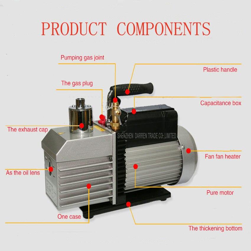 1 PC 100% Novo e de Alta Qualidade Elétrica bomba de vácuo Dupla voltagem Dual freqüência dois fase 110 V 220 V 375 W com 2L - 4