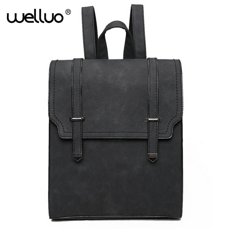 WELLVO 2016 HOT New Designed Brand Cool Urban Backpack Double Arrow Women Backpack Quality Fashion Girls