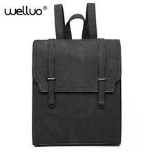 Wellvo 2016 горячая разработан новый бренд Прохладный городской рюкзак двойная стрелка Для женщин рюкзак Качество Мода Обувь для девочек школьная сумка Mujer XA609B