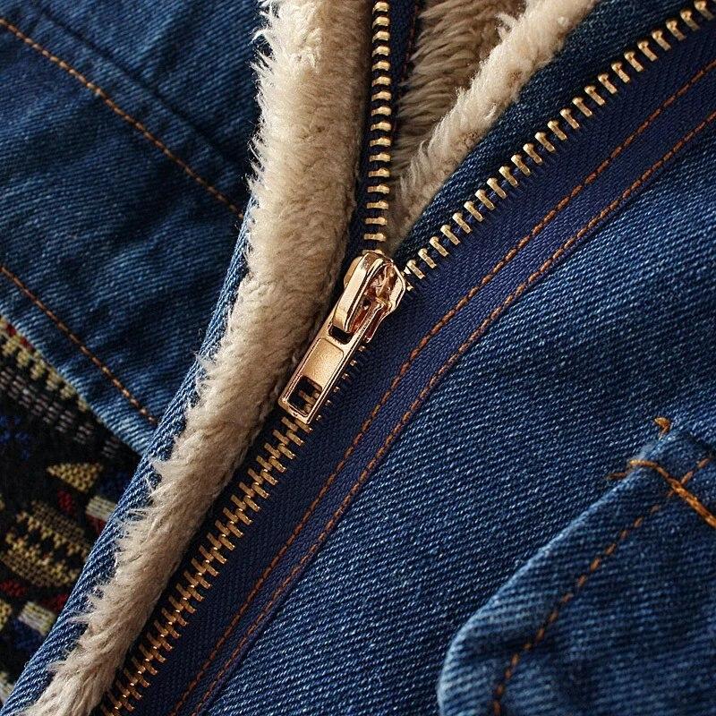 YAGENZ Neue Herbst Winter Frauen Denim Baumwolle Jacke Warme - Damenbekleidung - Foto 5