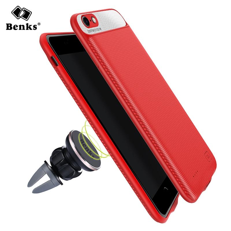 Benks Batterie Chargeur Cas Pour iPhone 6 6 s Plus 2500/3650 mAh Affaire de La Banque d'alimentation Ultra Mince Externe Pack Batterie De Secours Cas couverture