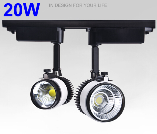 Cob Led Track Light 20W 3000K 4000K 220V 110V Dimmable Spot Led Lighting Rail Track Spot Light Fixtures Industrial diy 20w 3000k 2100lm square cob led module dc 36 45v
