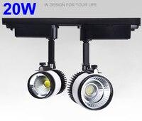Cob Led Track Light 20W 3000K 4000K 220V 110V Dimmable Spot Led Lighting Rail Track Spot Light Fixtures Industrial