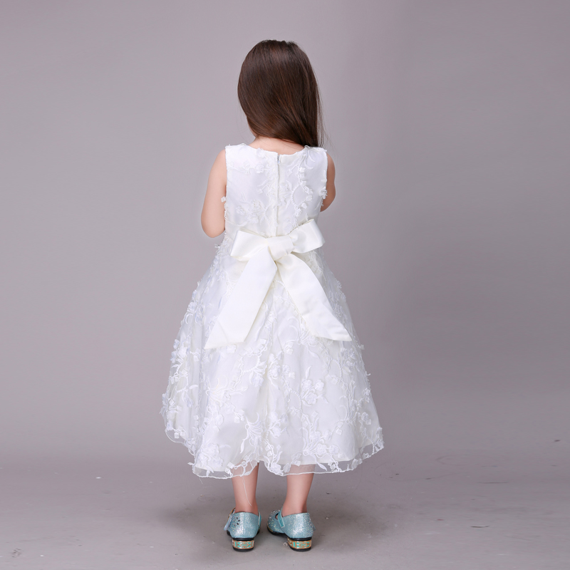77fafc33f0f19 US $58.35 |Fashion Girls Dresses Summer 2016 Gown Bridesmaid Child Baby  Girls Wedding Dress Maxi Dresses For Kids For Girls Age 2 5 6 7 8 9-in  Dresses ...