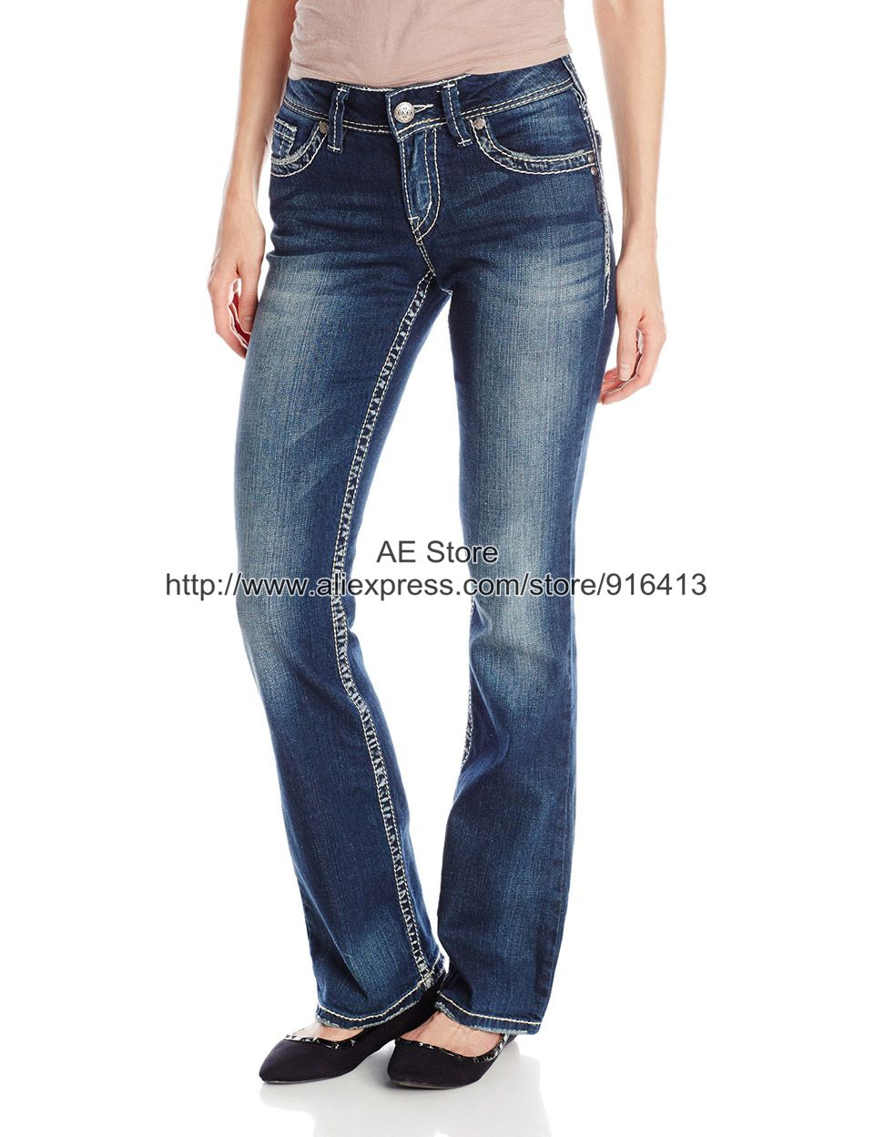 Compare Prices on Suki Bootcut Silver Jeans- Online Shopping/Buy