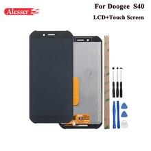 Alesser ل Doogee S40 شاشة الكريستال السائل و شاشة تعمل باللمس 5.5 الجمعية إصلاح أجزاء مع أدوات و لاصق للهاتف Doogee S40