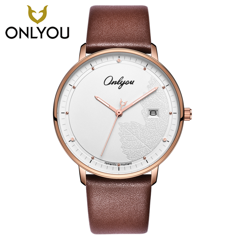 ONLYOU Fashion Creative Men Watch Lovers Wristwatch Ladies Dress Quartz Watches Women Casual Clock Couple Elegant Waterproof onlyou luxury brand fashion watch women men business quartz watch stainless steel lovers wristwatches ladies dress watch 6903