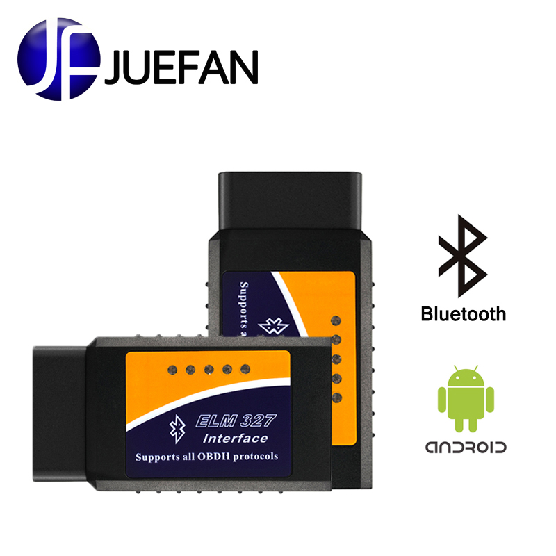 hot Car OBD-II elm327 bluetooth obd2 diagnostic tool easydiag ELM 327 V2.1 Bluetooth Car Scanner Interface Operates On Android