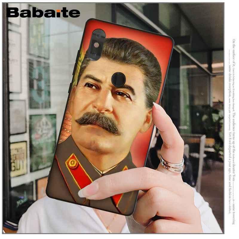 Stalin Babaite União Soviética de Silicone Macio TPU Tampa Do Telefone para Xiao mi mi 6 8 8 SE Nota 3 mi nota mi mi x 2 2 s Res 3 5 Coque Shell