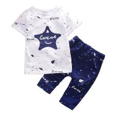 Kids Clothes Sets 2019 New Summer Star Printed Boys T Shir Shorts Suit Casual Baby Infant Children Stylish Clothing 1 2 3 4 Year(China)