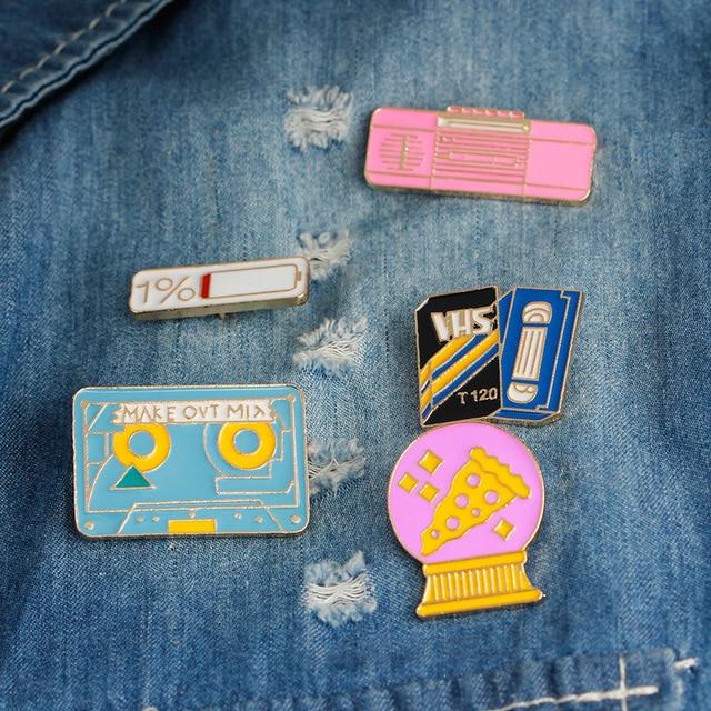 Mdiger Lapel Pin Badges Enamel Pin Cute Disc 1 Power Bottle Vintage
