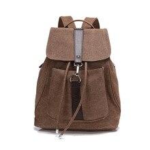 2015 vintage casual femmes daily sac à dos toile sac étudiant cartable rétro cordon sac voyage casual sac à dos bagpack 542 t
