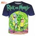 Rick e morty alisister nova moda t-shirt mulheres/homens harajuku camiseta 3d impresso engraçado dos desenhos animados t shirt camisetas clothing