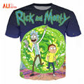 Rick y morty alisister nueva moda t-shirt mujeres/hombres harajuku camiseta impresa de dibujos animados 3d t shirt camisetas divertidas clothing