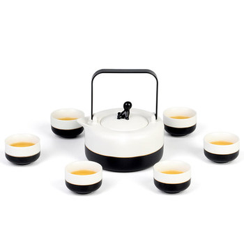 2018 Simple Japanese-style large teapot cup set ceramic home large-capacity beam pot gift box