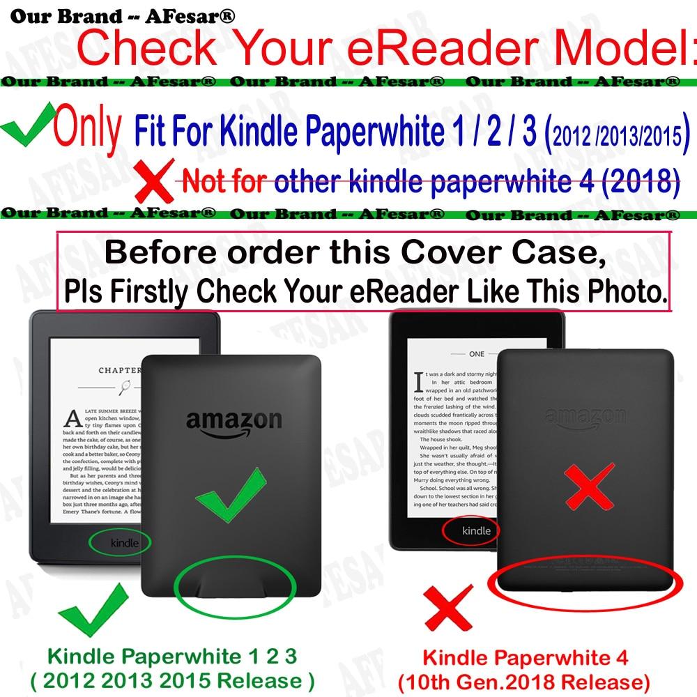 Para kindle paperwhite funda de cuero elegante cubierta de libro de - Accesorios para tablets - foto 2