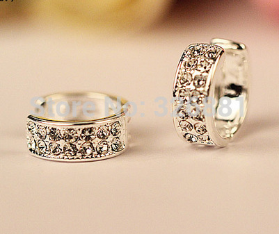 No Pierced Ears Ear Clips Clip Ring Comfortable On Silver Huggie Crystal Earrings Uni Brincos In From Jewelry Accessories