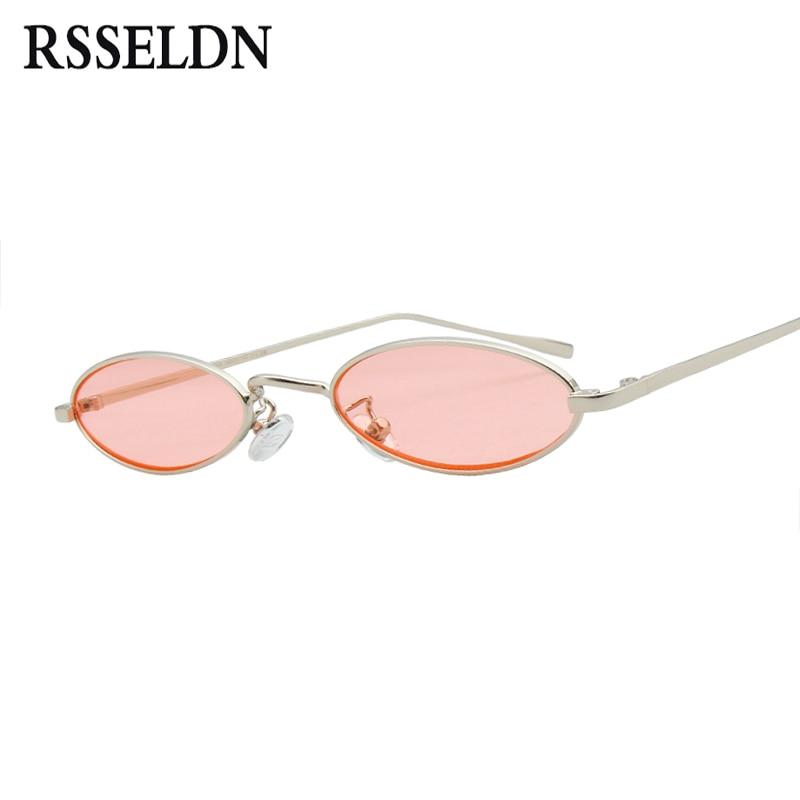 Small Sunglasses Women Men Retro Metal Glasses Transparent Yellow Lens Female Sun Glasses UV400 ZuuOeFl