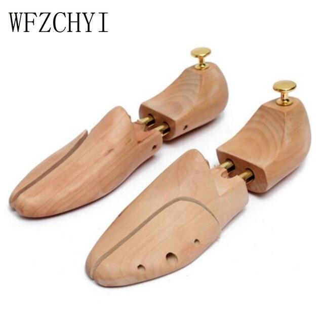 Een paar Schoen Brancard Houten Schoenen Boom Shaper Rack Hout Verstelbare Flats Pompen Laarzen Expander Bomen Size Unisex schoen ondersteuning