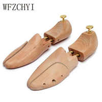 One pair Shoe Stretcher Wooden Shoes Tree Shaper Rack Wood Adjustable Flats Pumps Boots Expander Trees Size Unisex shoe support