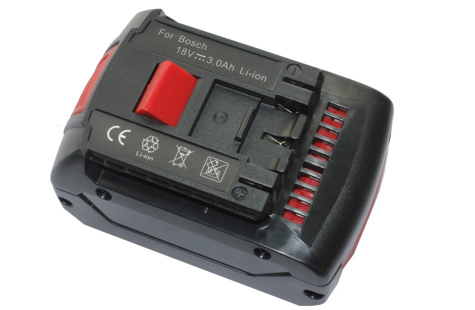все цены на Replacement Power tool Battery for Bosch 18V 3.0Ah Li-Ion GAS18V-LI BAT618 BAT618G BAT610G 2607336091 BAT609 battery