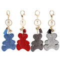 New Fashion Leather keychain Neutral Cubs Rhinestone Best Gift badges DM#6