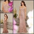 Elegante Mãe Vestidos de Noite para Casamento Mangas Sheer Voltar Bordado Baguetes Bainha Longa Mãe dos Vestidos de Noiva