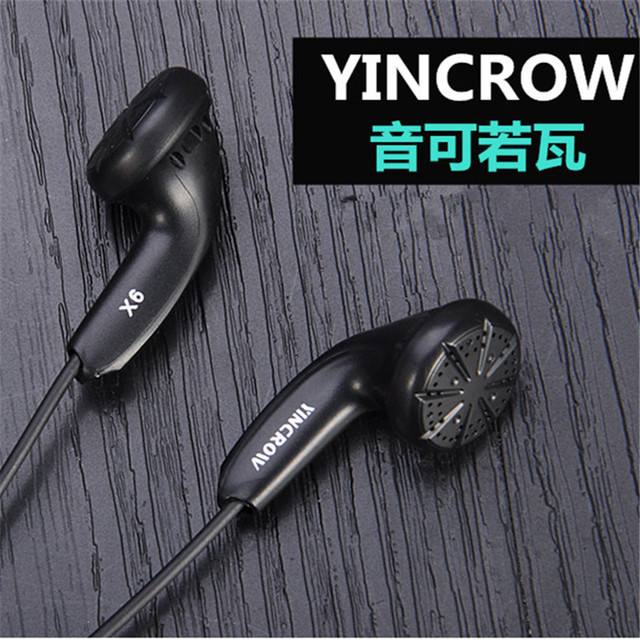 New Original YINCROW X6 In Ear Earphone Earbud Flat Head Plug Earplugs PK PK1 MX985 Earbud Kill Monk Earbud Free Shipping