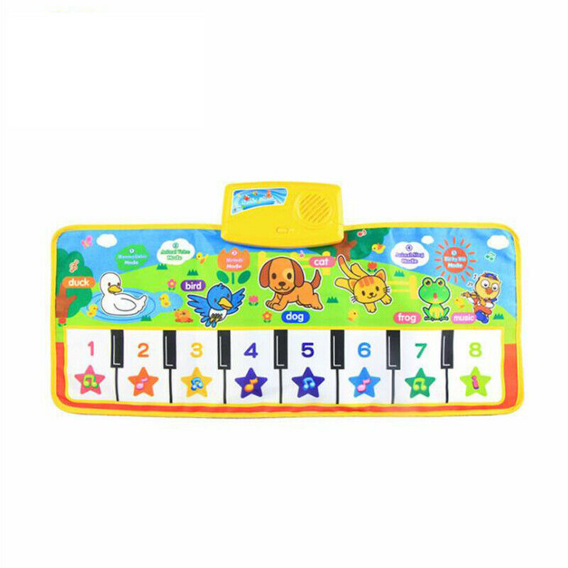Baby Piano Music Play Mat Animal Sounds Musical Keyboard Crawling Blanket Kids Gift Educational Carpet Electronic Toys For Kids