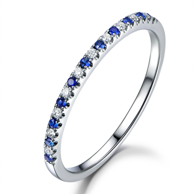 MYRAY Rose Gold Wedding Band Sapphire Rings Diamond Wedding Band ...