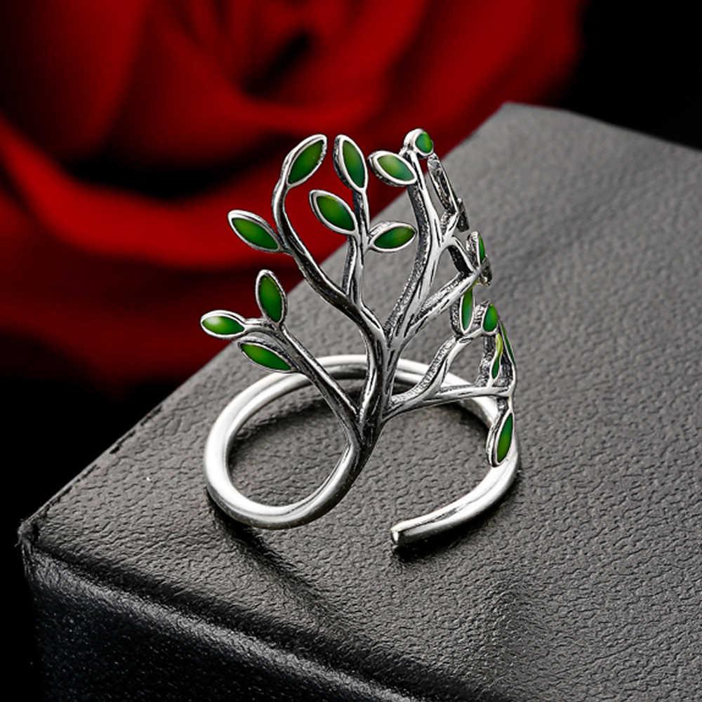 ล่าสุดแท้ 100% 925 เงินสเตอร์ลิงเครื่องประดับเคลือบรูปแหวน Cool ผู้หญิงแหวนหมั้นงานแต่งงานอุปกรณ์เสริม
