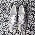 Kanye West Zapatos Casual Hombres Zapatos de Leopardo 1:1 de Calidad Superior Zapatos ocasionales Planos Con Low Top Zapatos de Calle Grande de la Marca XMA0662-2