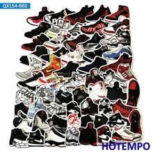 3df663709c 60 PCS Retro Creative Jordan Basketball Sneakers Shoes Graffiti Stickers  for Laptop Skateboard Luggage Decal Waterproof Stickers