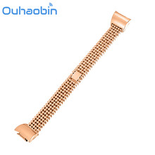 Ouhaobin three Colours Stainless Metal Bracelet Sensible Watch Band Strap For Samsung Gear Match 2 SM-R360 Reward Sep 23 Dropshipping