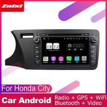 ZaiXi For Honda City 2014~2019 Car Android Multimedia System 2 DIN Auto DVD Player GPS Navi Navigation Radio Audio WiFi auto player gps navigation for honda city 2014 2019 car android multimedia system screen radio stereo