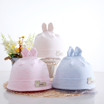 Newborn Baby Girls Boys 100% Cotton Cap Toddler Babys Double-layer Stretched Cartoon Cap 0-3 Months new