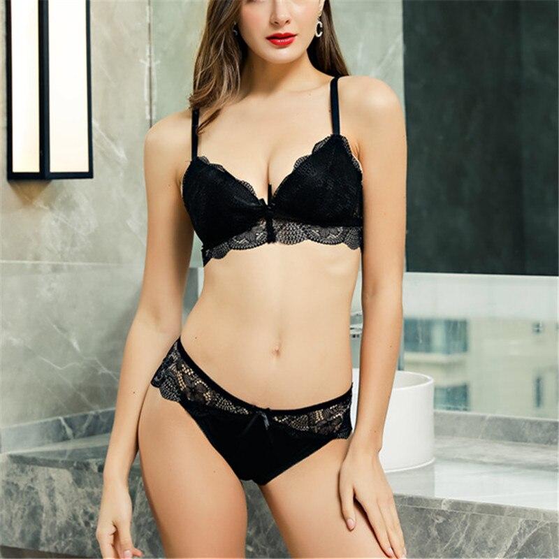 Sexy   bra     sets   Floral Ladies Girls Deep V   Bra   Brassiere Push Up   Bra   Women Underwear   Bra     Set   Wireless Lingerie Female   Set   BC