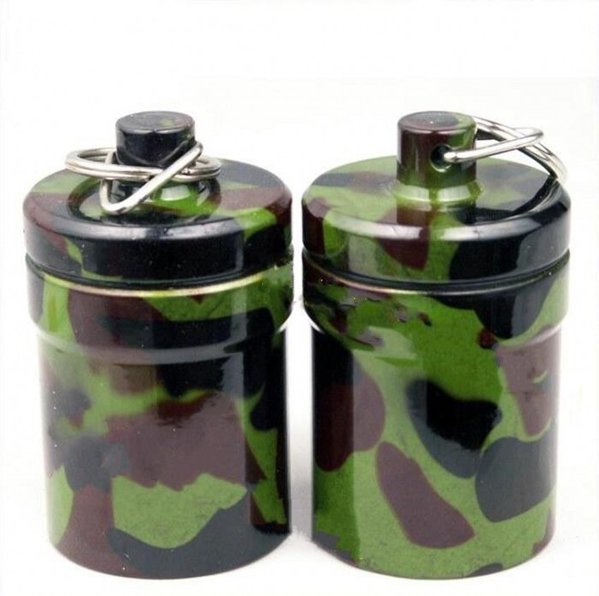 EDC Waterproof Bottle Camping Survival Storage Container Metal Medicine Box  Outdoor Portable Tools Seal Tank Large