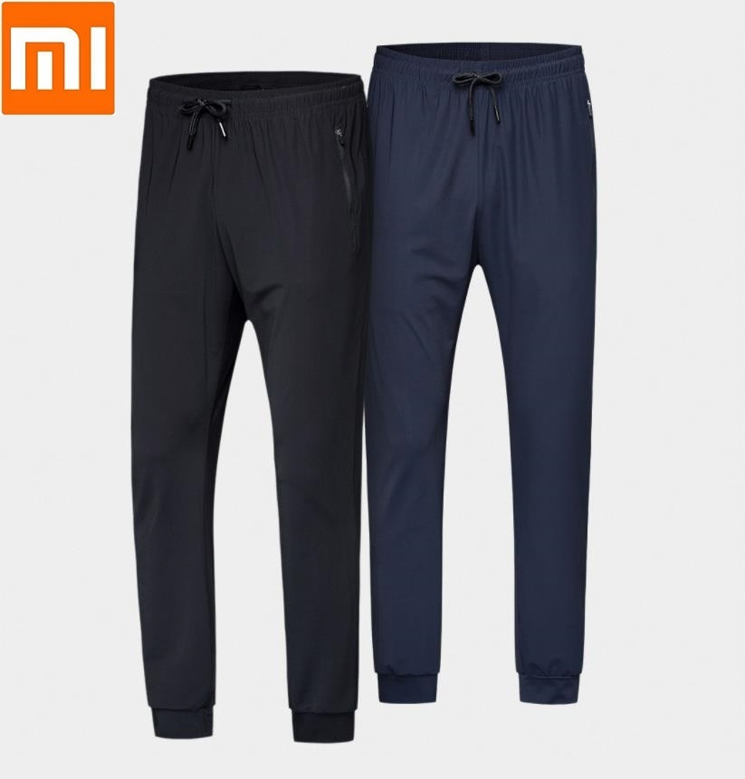 Xiaomi Uleemark men cool elastic sports trousers summer Cold touch Sweat absorbent Breathable comfort Casual Dry