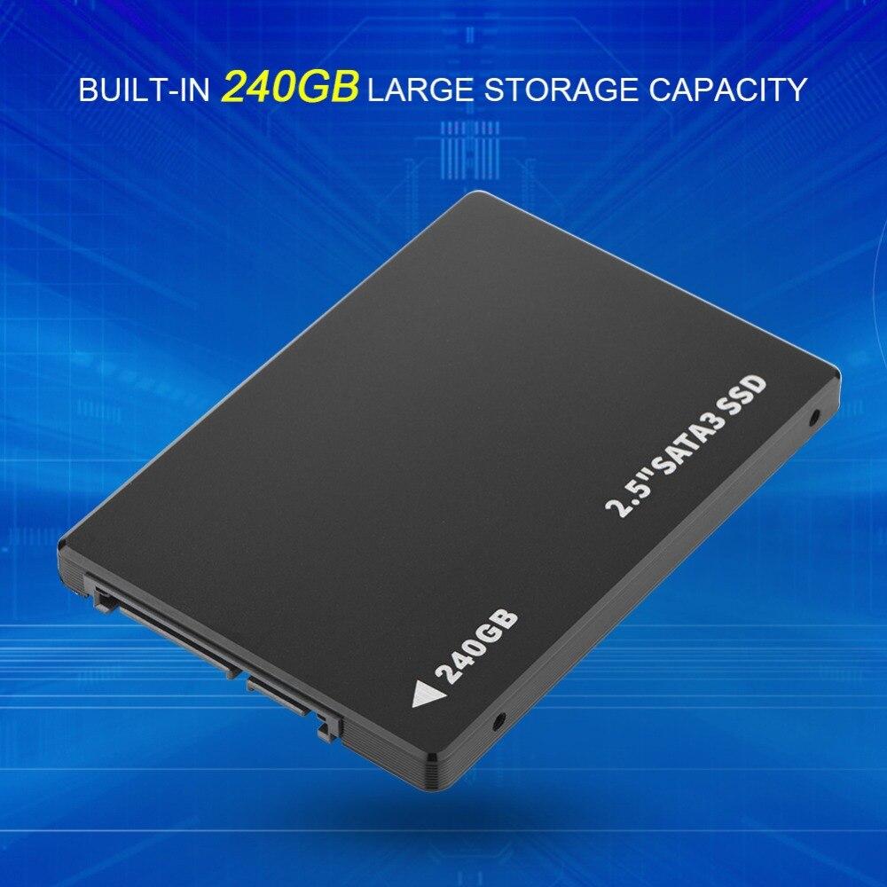 240G SSD SATA Mobile Hard Disk 2.5in for Laptop Desktop PC Black