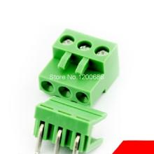 3pin 5.08 Right angle Terminal plug type 300V 10A 5.08mm pitch connector pcb screw terminal block connector(China)