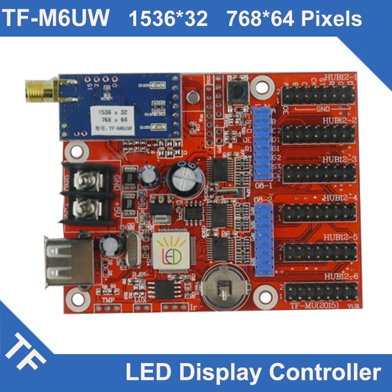 TF-M6UW Longgreat TF WIFI USB port LED Display Control Card Single Dual ColorTF-M6UW Longgreat TF WIFI USB port LED Display Control Card Single Dual Color
