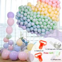 METABLE 100PCS 10inches Rainbow Set Assorted Macaron Candy ColorforBirthday Wedding BabyShower KidsParty Supplies and Decoration