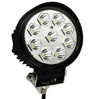 1 pz 27 W 4.6 Pollici Rotonda Spot 9LED Luce di Lavoro per SUV 4WD fuoristrada ATV Camion Rimorchio Barca Nebbia di Guida Campo Lightbar Tazza del Riflettore
