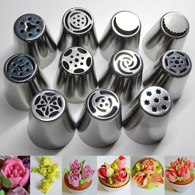 Aliexpress Com Buy 11pcs Stainless Steel Russian Tulip