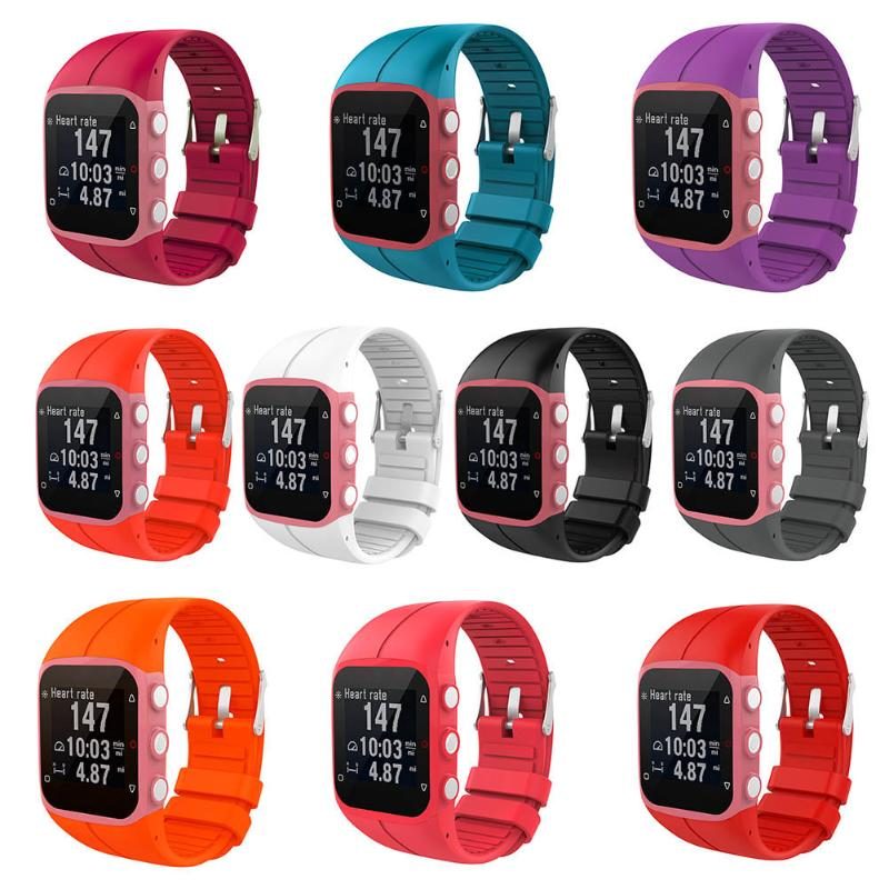 1Pcs Silicone Watch Strap Wrist Band Replacement for Polar M400 M430 Watchbands GPS Running Smart Sports Watch Wrist Strap New